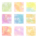 Set of  watercolor backgrounds Stock Image
