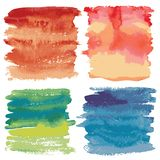 Set of watercolor backgrounds. Royalty Free Stock Photos