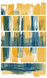 Set of watercolor banners. Scanned in very high resolution with ruff paper texture. Isolated. Design element Royalty Free Stock Photos