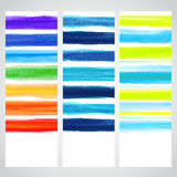 Set of watercolor banners Royalty Free Stock Image