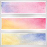 Set of watercolor banners. Set of watercolor banners  on a white background Royalty Free Stock Images