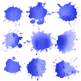 Set of watercolor blobs Stock Images