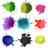 Set of watercolor blobs Stock Photography