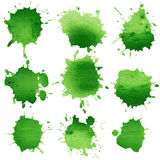 Set of watercolor blobs Royalty Free Stock Photo