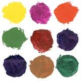 Set of watercolor blobs Royalty Free Stock Image