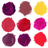 Set of watercolor blobs Royalty Free Stock Photography