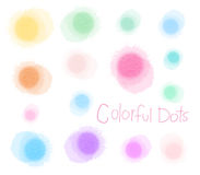 Set of watercolor blobs, isolated on white background Digital a Royalty Free Stock Photo