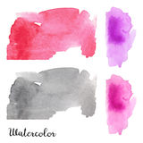 Set of watercolor blots. Isolated on white background. Colorful hand drawn watercolor blots for your design Royalty Free Stock Images