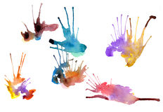 Set of watercolor blots Royalty Free Stock Images