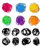 Set of watercolor brush stains Royalty Free Stock Images
