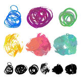 Set of watercolor brush stains Stock Images