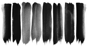 Set of  watercolor brush strokes Royalty Free Stock Image