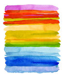 Set of watercolor brush strokes. Isolated on white. royalty free stock image
