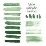Set of watercolor brush vector strokes. Vector illustration for your design Stock Image
