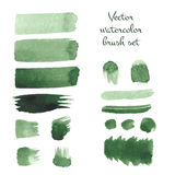 Set of watercolor brush vector strokes. Vector illustration for your design Royalty Free Stock Image