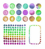Set of watercolor circles  splashes Royalty Free Stock Images