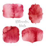 Set watercolor forms Royalty Free Stock Image
