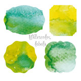 Set watercolor forms Stock Images