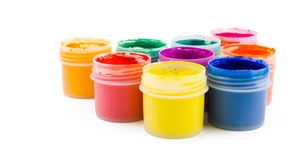 Set of the watercolor gouache paints Royalty Free Stock Image
