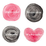 Set of watercolor hand drawn circles background Royalty Free Stock Photography