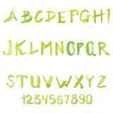 Set of watercolor handwriting font Royalty Free Stock Photo