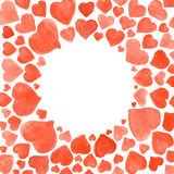 Set of watercolor hearts. Hand-drawn various  isolated on white background. Wedding or Valentine's template. Set of watercolor hearts. Hand-drawn various hearts Royalty Free Stock Photography