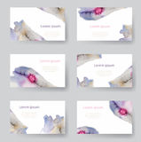 Set of watercolor identify backgrounds card, tags, invitations. Vector illustrated Stock Image