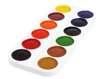 Set of watercolor paints Stock Photography