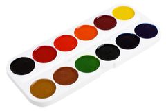 Set of watercolor paints Royalty Free Stock Photo