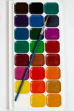 Set of watercolor paints for drawing Royalty Free Stock Image