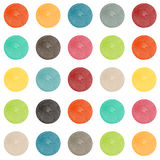 Set of watercolor  shapes in retro colors Stock Image
