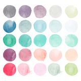 Set of watercolor shapes. Royalty Free Illustration