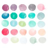 Set of watercolor shapes. Watercolor blobs. Vector Illustration
