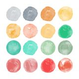 Set of watercolor shapes. Watercolors blobs Royalty Free Stock Photography