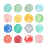 Set of watercolor shapes. Watercolors blobs Royalty Free Stock Images