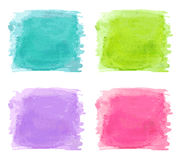 Set of watercolor splash Stock Images