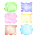 Set of watercolor splashes, vector. On white Royalty Free Stock Photo