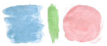 A set of watercolor spots for decor and decoration of fabrics, books, notebooks, etc