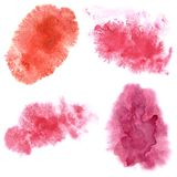Set of watercolor stains. Isolated on the white background. Watercolour elements for your design vector illustration