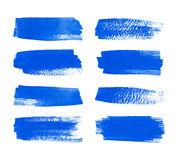 Set of watercolor stripes. Royalty Free Stock Photography
