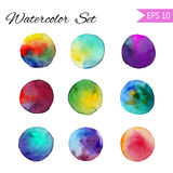 Set Watercolor-style vector spot illustration. Colorful element for design or print . Stock Photography