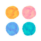 Set of watercolor vector banners Royalty Free Stock Images