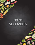 Set of watercolor vegetables. Royalty Free Stock Photography
