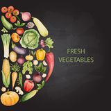 Set of watercolor vegetables. Stock Photography