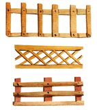 Set of watercolor wooden fences vector illustration