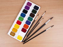 Set of watercolors Stock Photography