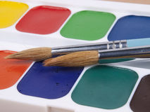Set of watercolors Royalty Free Stock Image