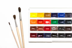 Set of watercolors Royalty Free Stock Photos