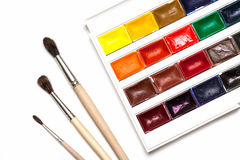 Set of watercolors Stock Images