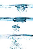 Set of Waterlines. Oxygen Bubbles. Healthy Fresh Water Royalty Free Stock Photo